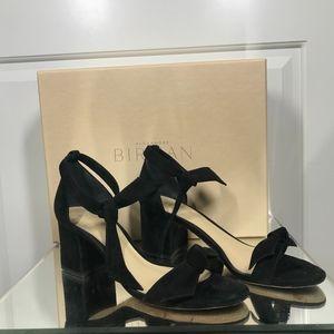 Alexandre Birman black suede clarita block heel